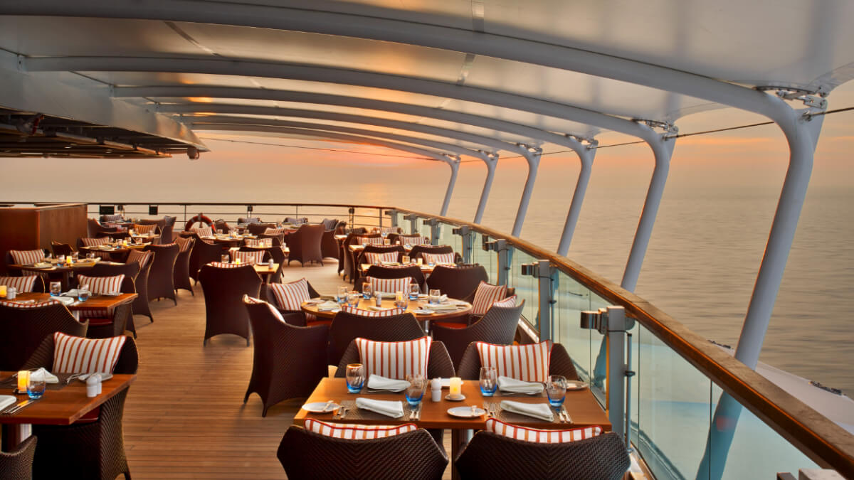 Seabourn Encore - The Colonnade Outside