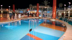 Freedom Of The Seas - Pool by Night