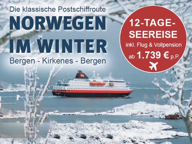 Hurtigruten Norwegen im Winter